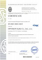 OPTOKON Kable ISO 14001.2015_EN